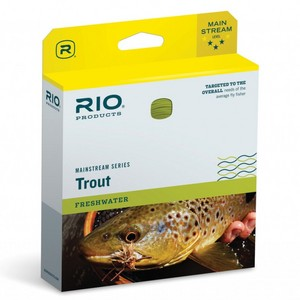 Mainstream Floating Trout Fly Line WF4F - Lemon Green