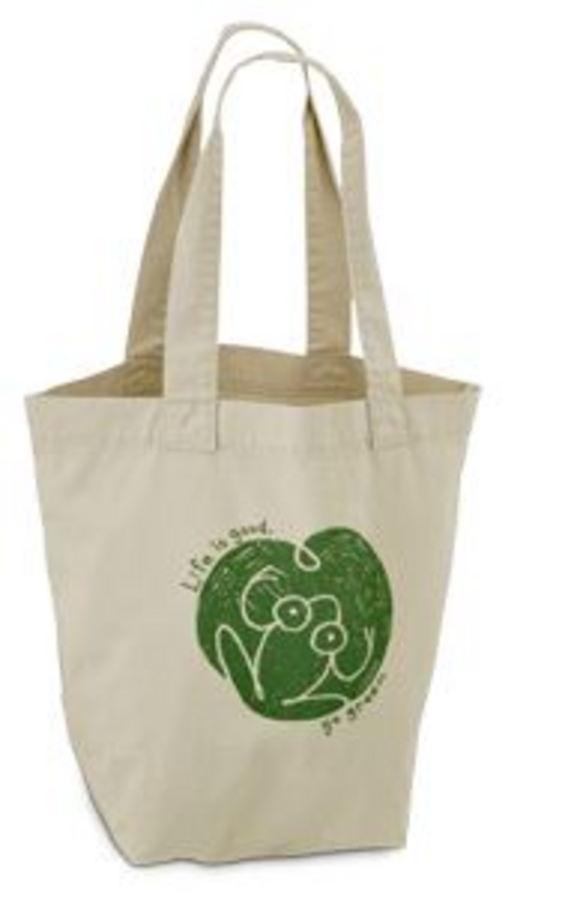 Life Is Good Good Karma Organic Tote - Go Green Frog