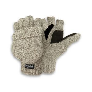 Women`s Ragg Wool Pop-Top Mitten