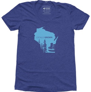 Women`s Wisconsin State Scape Tee Shirt
