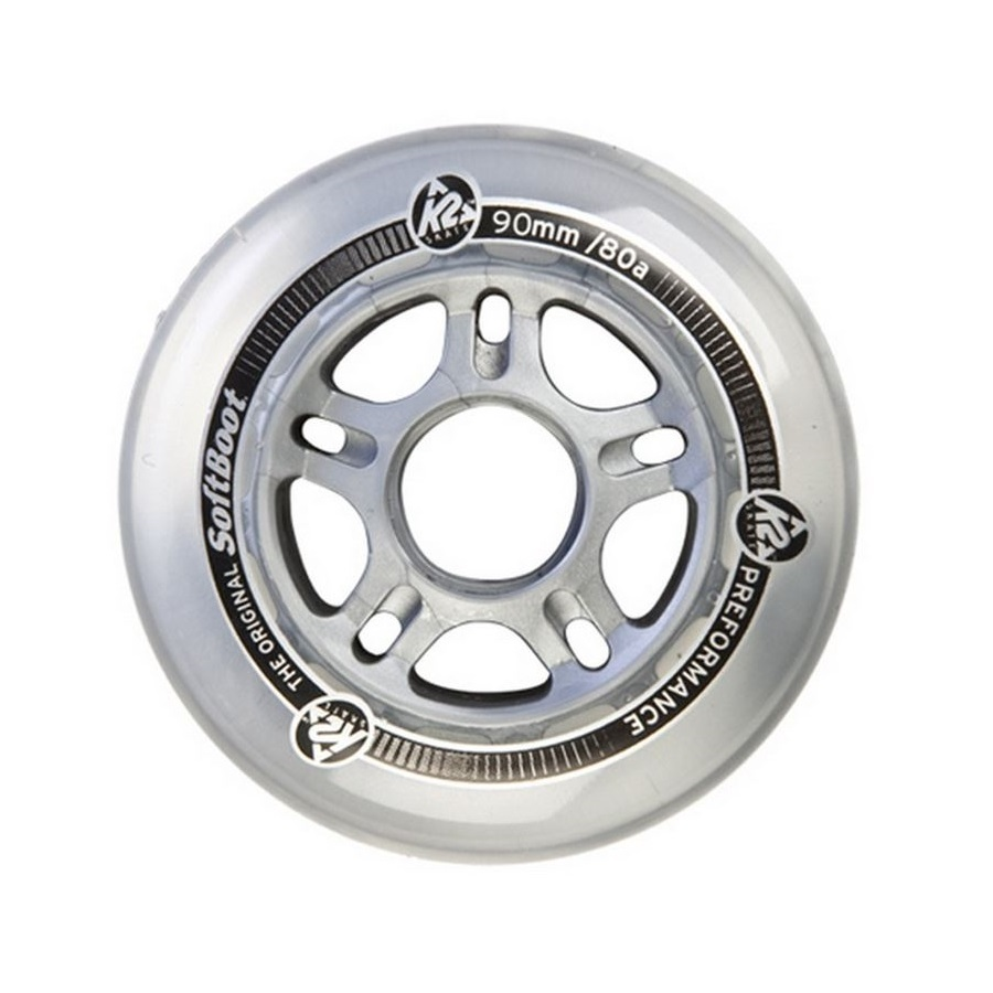 K2 90mm Wheels 8 pack with ILQ Aluminum Spacers