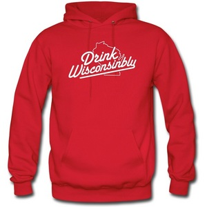 Men`s Drink Wisconsinbly Hooded Sweatshirt