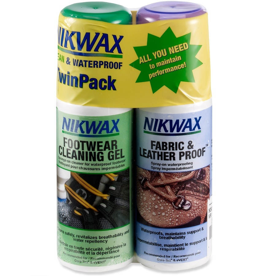 Nikwax Fabric/Leather Proof and Cleaning Gel Duo Pack
