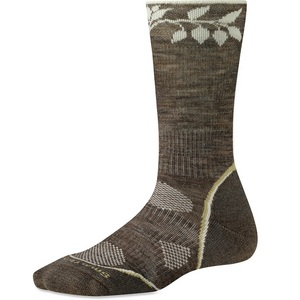 Women`s PhD Outdoor Light Pattern Crew Socks
