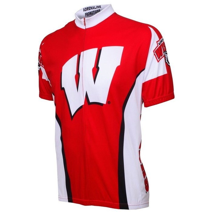 Adrenaline Promotion Men's Wisconsin Badgers Cycling Jersey
