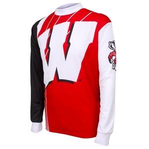 Men S Wisconsin Badgers Long Sleeved Bike Jersey Fontana
