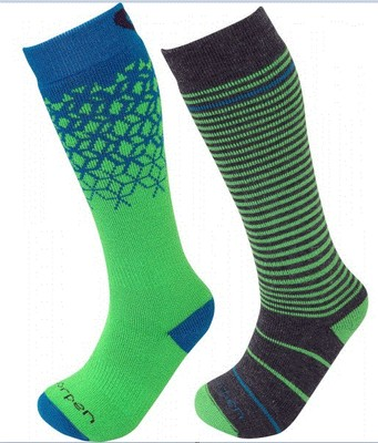 Youth Merino Ski Socks 2 Pack