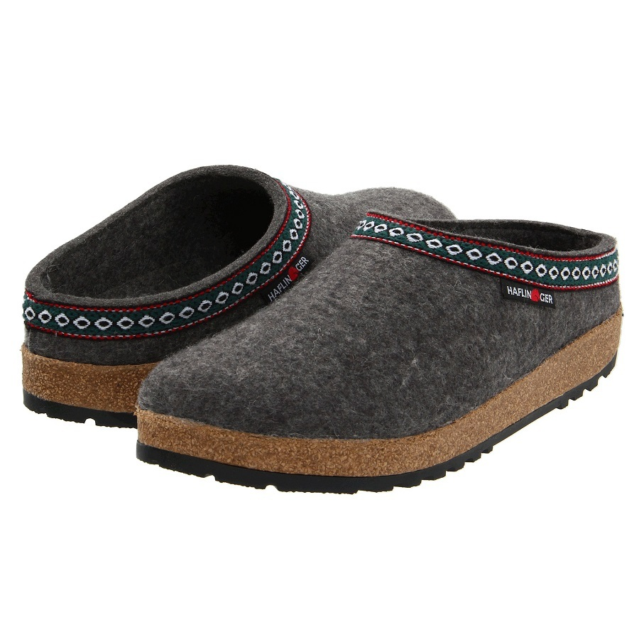 Haflinger Classic Wool Felt Grizzly GZ Clogs
