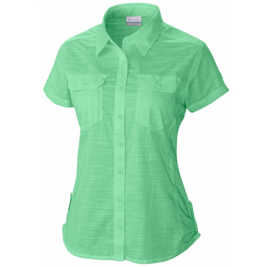 Women 39 s camp henry solid short sleeve shirt fontana sports for Women s long sleeve camp shirts