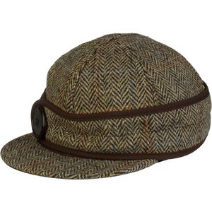 Women's Button-Up Harris Tweed Cap