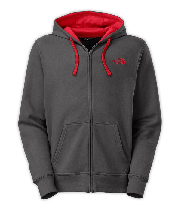 The North Face Men S Embroidered Logo Full Zip Hoodie