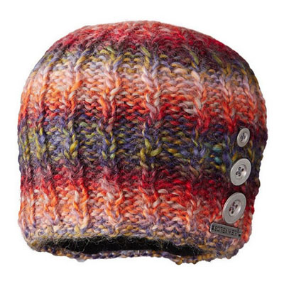 Women`s Tapestry Buttons Beanie