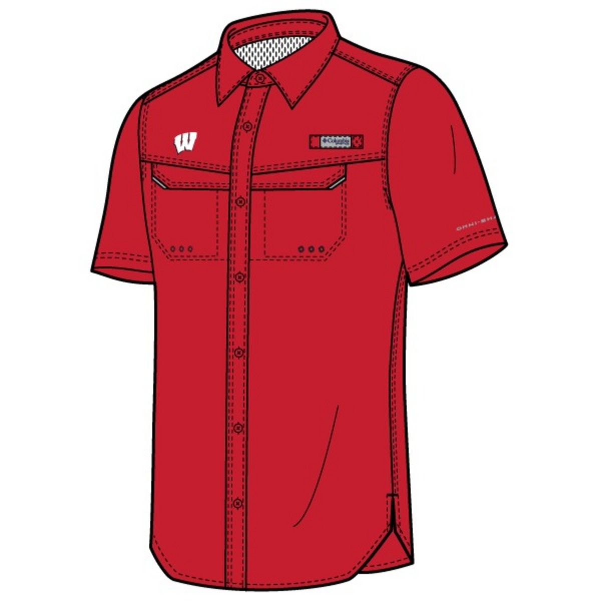 f542b70d380 Columbia Men's Collegiate Low Drag Offshore Short Sleeve Shirt