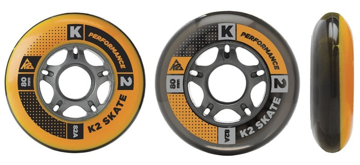 K2 80MM Wheels 4-Pack 82A