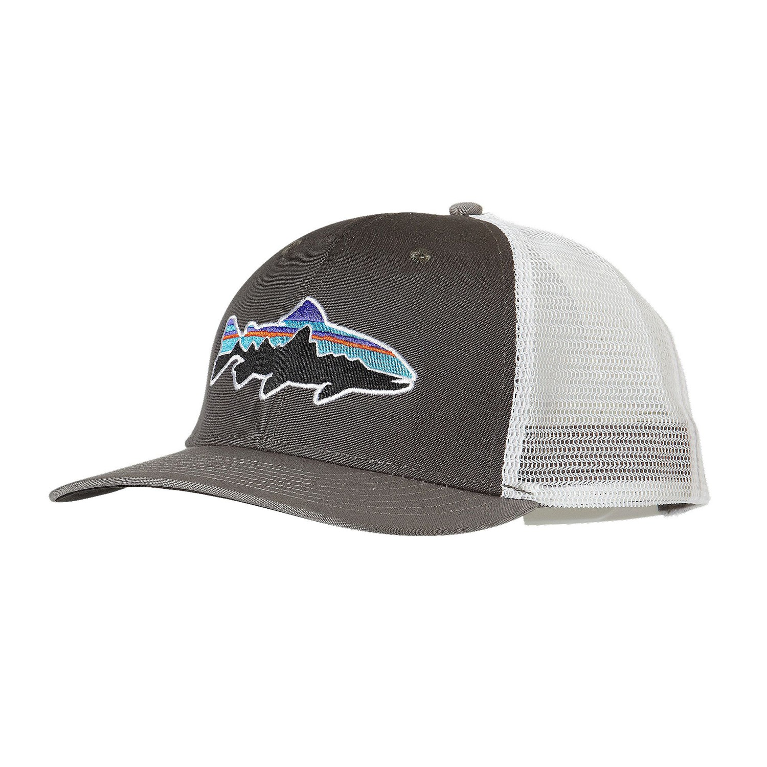 Patagonia fitz roy trout trucker hat fontana sports for Patagonia fish hat