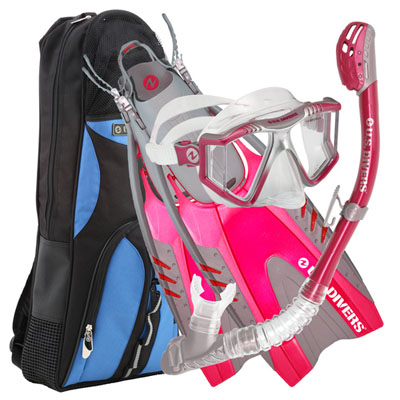 Lux P Phoenix Pivot Dive Snorkel and Fin Set