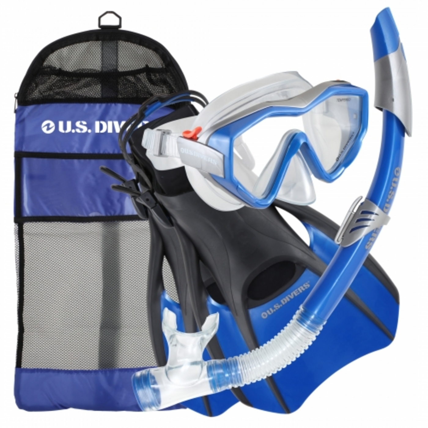 Us Divers Anacapa LX Sonora Trek Snorkel Set with Fins