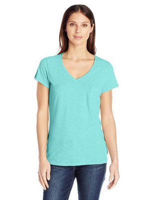 Women`s Everyday Kenzie V Neck Tee Shirt