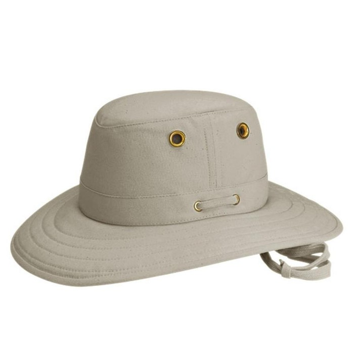 Tilley T4 Cotton Duck Hat - Khaki with Olive Underbrim