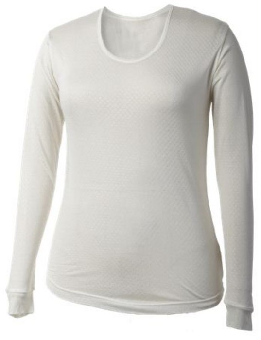 Terramar Women's Pointelle Silk Scoop Top