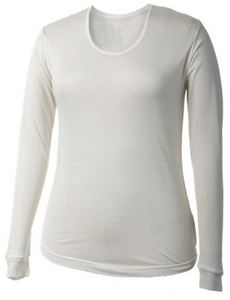 Women's Pointelle Silk Scoop Top