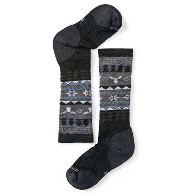 Girls' Wintersport Fairisle Moose Socks