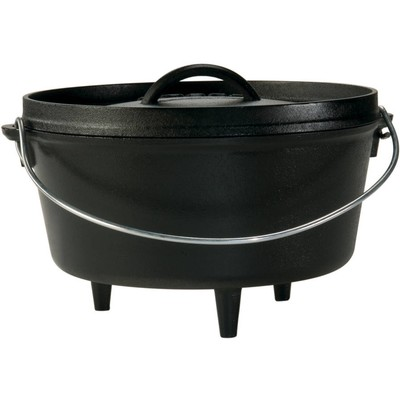 Cast Iron 12 Inch/8 Quart Deep Dutch Oven