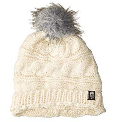 Women's Triple Cable Fur Pom Beanie