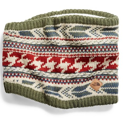 Women's Chunky Tube Scarf with Fair Isle Print