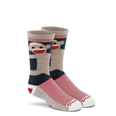 Youth Monkey Hugs Crew Socks