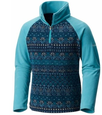 Girl's Glacial II Fleece Print Half Zip