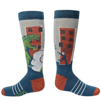 Youth Snow Zilla Socks