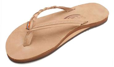 Rainbow Sandals Flirty Braidy Single Layer Premier Leather with Arch Support with a Braided Strap