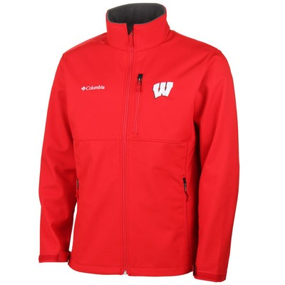 Men's Wisconsin Badgers Columbia Ascender Bonded Softshell Jacket