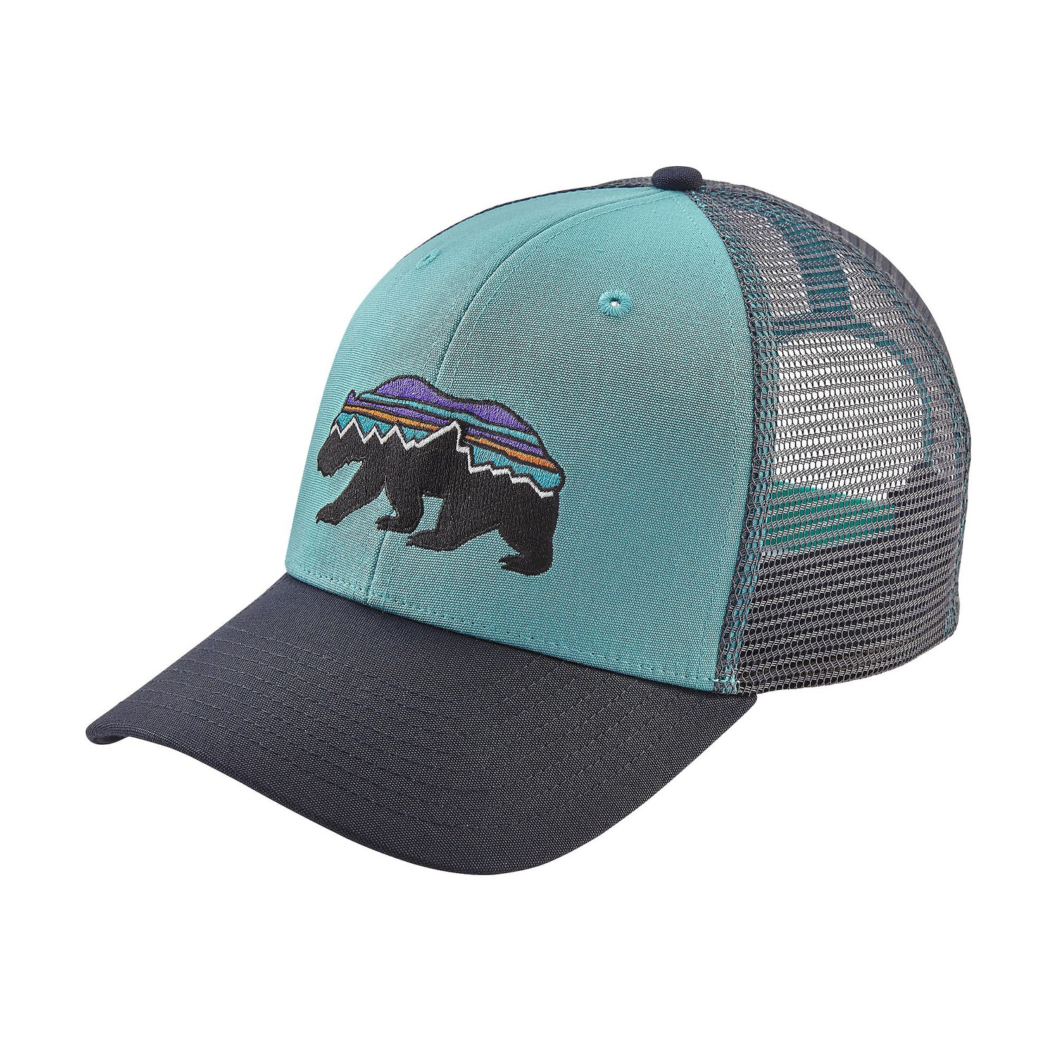 Patagonia fitz roy bear trucker hat fontana sports for Patagonia fish hat