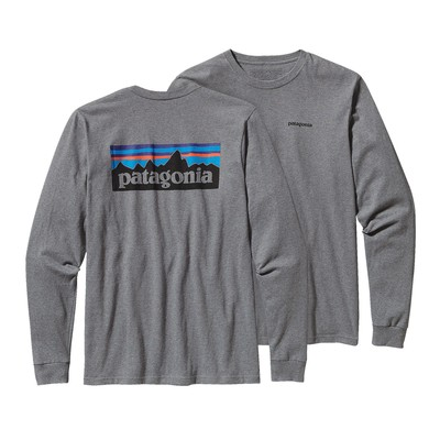 Men's Long-Sleeved P-6 Logo Cotton T-Shirt