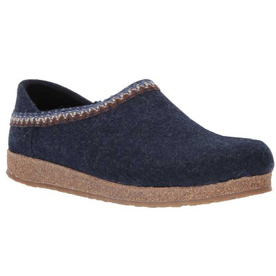 Captains Blue with Zig Zag Trim - Wool Felt Grizzly