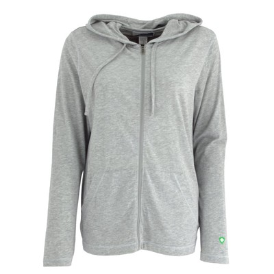 WOMEN'S BUG FREE COTTON JERSEY FULL ZIP HOODY