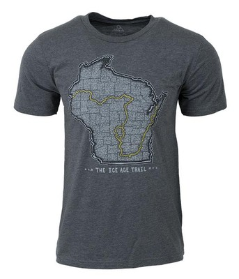 Ice Age Trail Map T-Shirt