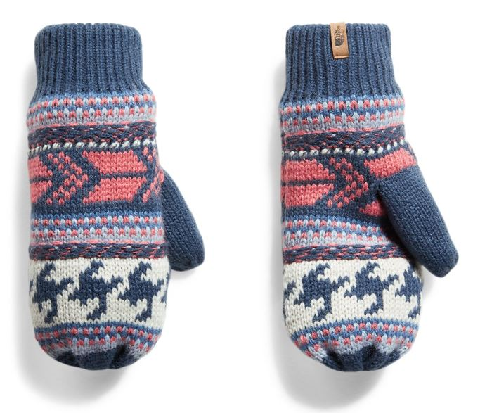 The North Face Women S Fair Isle Mitts Fontana Sports