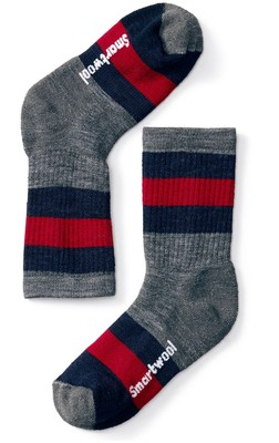 Kids' Striped Hike Medium Crew Socks