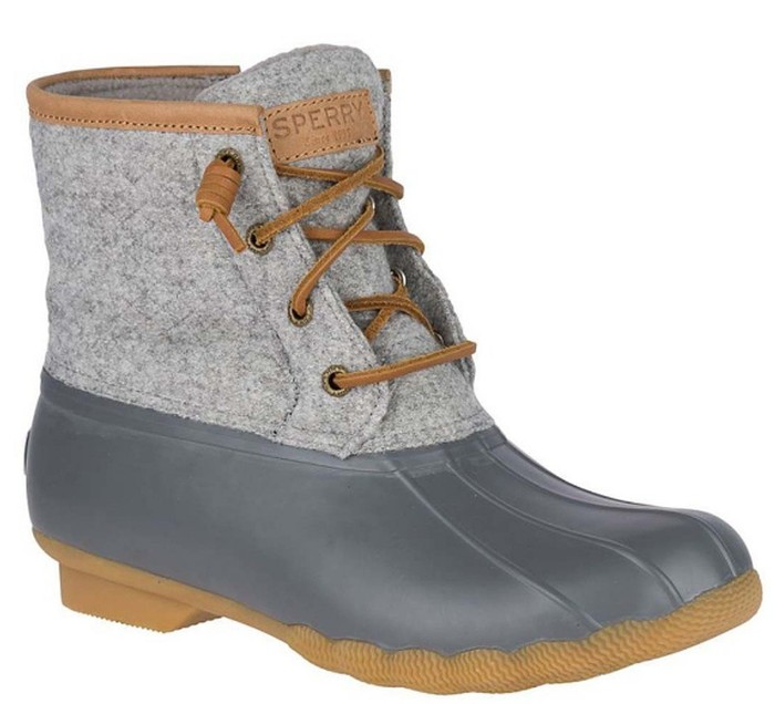 15a25394a Sperry Top Sider Women's Saltwater Wool Embossed Duck Boot w ...