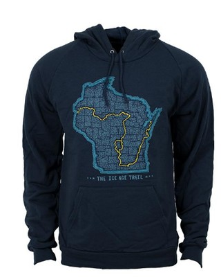Ice Age Trail Alliance 'Trail Map' Hoodie Sweatshirt