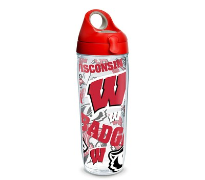 Wisconsin Badgers All Over 24 oz water Bottle