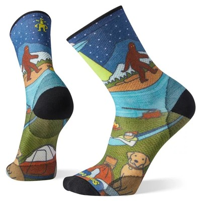 PhD® Outdoor Ultra Light Monster Camping Print Crew Socks