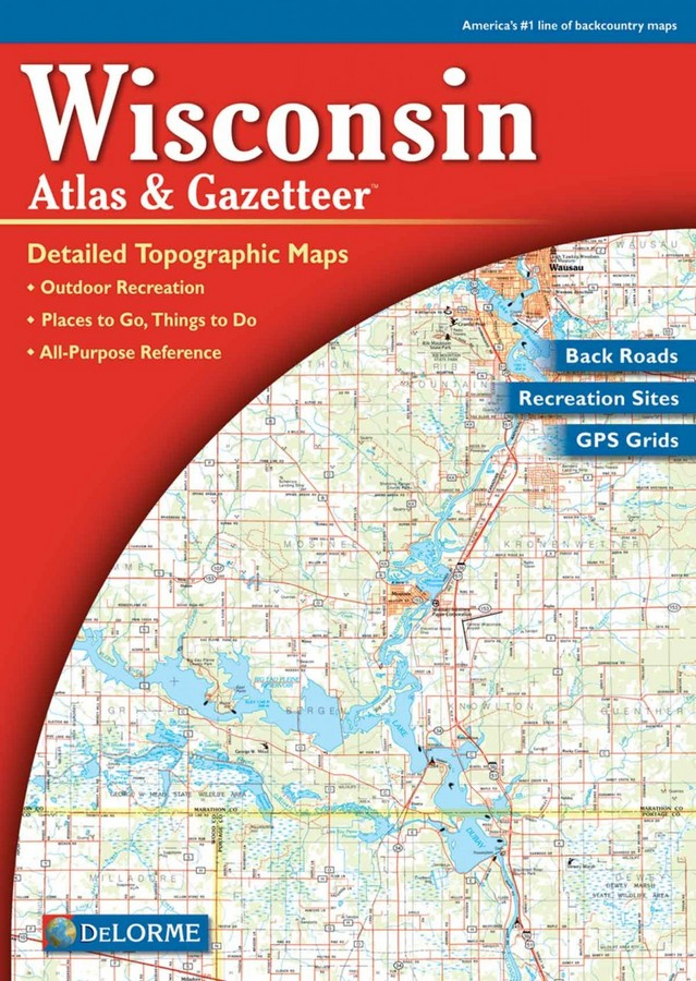 Delorme Maps Wisconsin Atlas and Gazetteer on