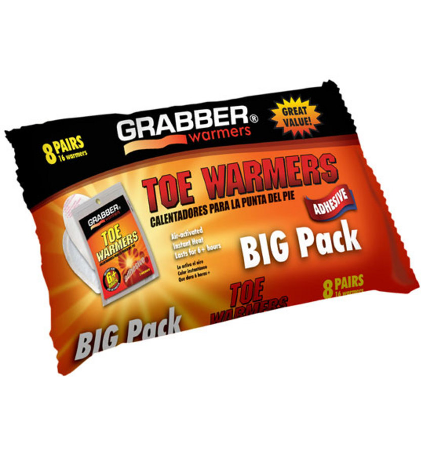 Grabber Toe Warmers 8 pack