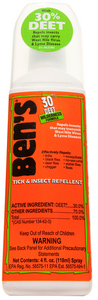 Ben`s 30 Deet Tick and Insect Repellent 4 OZ. Pump Spray