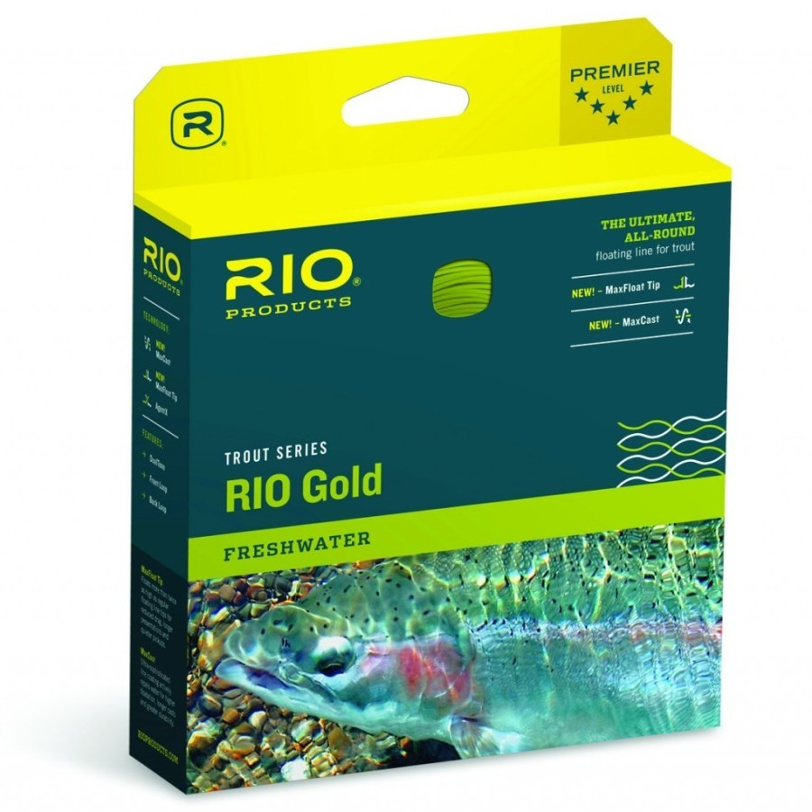 Rio Products Gold Fly Line WF6F Moss/Gold