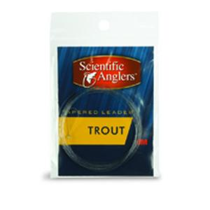 Premium Freshwater Leader - 7 1/2` Trout With Loop, 7 1/2 Ft - 3X - Clear